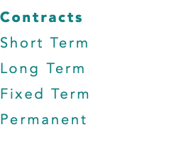 Contracts Short Term Long Term Fixed Term Permanent